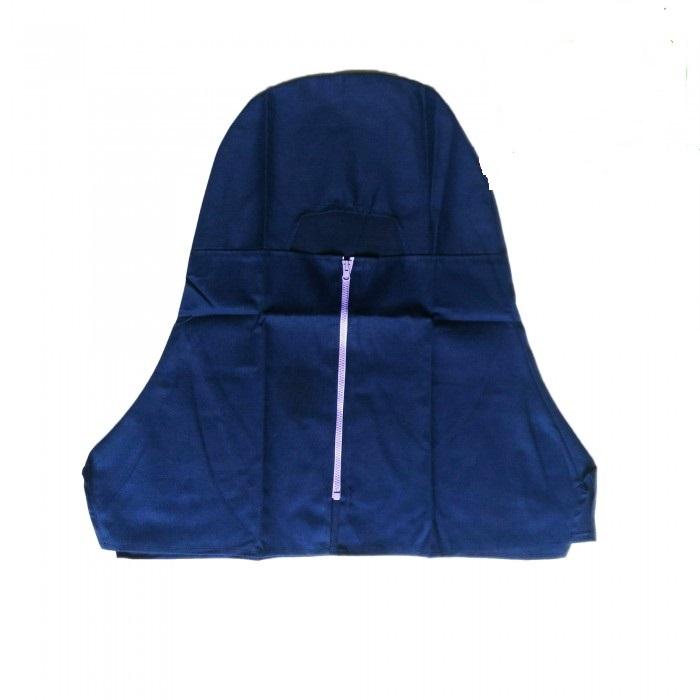 Nón trùm đầu cho thợ hàn vải Kaki (Có dây kéo)