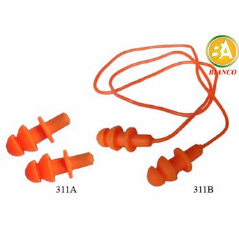 Nút tai chống ồn 2 tầng màu cam – 25 bộ